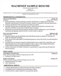 Sample Machinist Resumes Cnc Machinist Resume Samples Acepeople Co