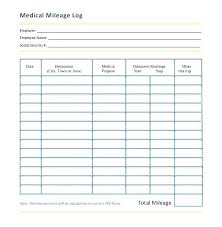 Medical Log Book Template