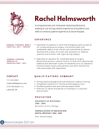 Inspirational Medical Resume Examples Resume Examples 2017