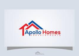 Modern Fett Building Logo Design Für Apollo Homes Developments