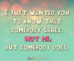 Stupid Funny Quotes Best I Just Wanted You To Know That Somebody Cares Not Me But Somebody