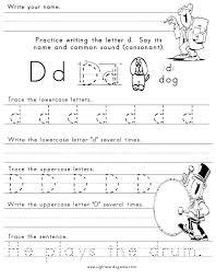 Kindergarten Practice Sheets Free Printable Worksheet Writing