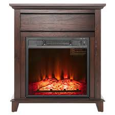 akdy 27 in freestanding electric fireplace heater in wooden fp0095 rh homedepot com electric heater fireplace home depot electric heater fireplace logs