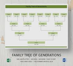 Genealogy Family Tree Forms Blank Family Tree Template 32 Free Word Pdf Documents Download