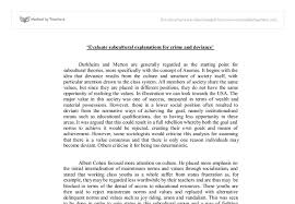 evaluate subcultural explanations for crime and deviance a level document image preview
