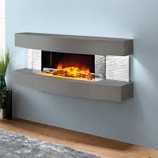 evolution fires miami curve 48 inch wall mount electric fireplace carrara fwmcc
