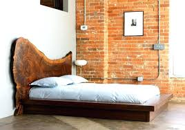 Low Profile Wooden Bed Frame Oriental Bed Frame Low Profile Brown ...