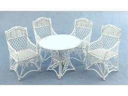 white wrought iron garden furniture. Dolls House Garden Furniture White Wrought Iron Patio Set Table 4 Chairs A