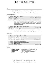 Resume Templates For Highschooldents Unbelievable Easy Good High