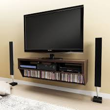 Series 9 Designer Collection 42 Wall Mounted Av Console Espresso 58 Inch Wide Wall Mounted Entertainment Console