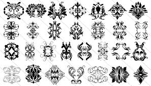 65 Victorian Vintage Ornament Design
