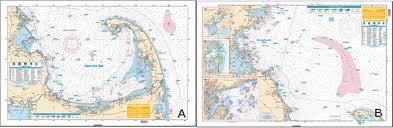 Cape Cod Chart Waterproof Coastal Ne Fishing Chart Cape Cod Bay Mass