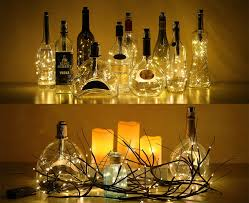 wine lighting. Amazon.com: LOFTPLUS Bottle Lights Metal Cork With 6-Hour Timer \u0026 Interchangeable Corks For Various Wine Openings AA Battery String Lighting U