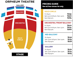 Orpheum Theater Seating Chart Broadway At The Orpheum Theatre Join Today And Save On