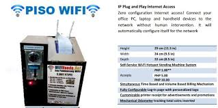 Piso Wifi Vending Machine Interesting HotSpot Technical Computer Repair Living In Cebu Forums