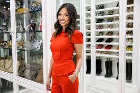 lisa adams in a closet she designed for a client in beverly hills california