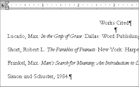 Work Cited Or Works Cited Creating A References Or Works Cited Page With Microsoft Word