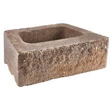 charcoal tan concrete retaining wall block