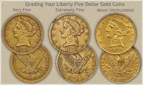 Liberty Five Dollar Gold Coin Grading Rare Coins Value In