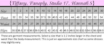 Studio 17 Size Chart Prom Dresses Size Chart Fashion Dresses
