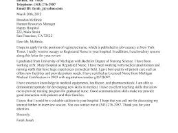 Cover Letter For New Graduate Nurse Cover Letter New Graduate Nurse ...