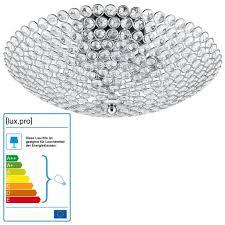 Kristall Deckenleuchte Kronleuchter Vapora Von Luxpro Decken Lampe In Modernem Design Mit Kunst Kristallen