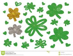 St Patrick S Day Designs St Patricks Day Design Of Clover Leaves And Heart Stock