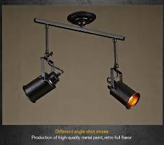 lighting spotlights ceiling. Loft Bar Wall Probe Industrial Pendant Light Black Track Lights Spotlights Clothes Store Ceiling Lamp 1/2/3 Heads-in From \u0026 Lighting G