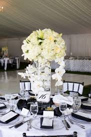 ... Charming Wedding Table Decoration With Various White Flower Wedding Table  Centerpiece Ideas : Divine Picture Of ...