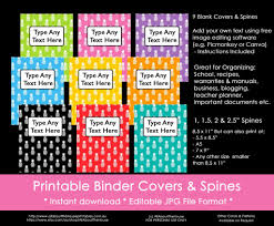 Printable Binder Inserts Ways To Organize Using Binder Covers Plus A Free Printable