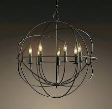 wrought iron crystal orb chandelier iron sphere chandelier full image for wrought iron sphere chandelier wrought