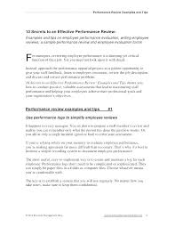 employee evaluation feedback employee review examples free example of evaluation comments and