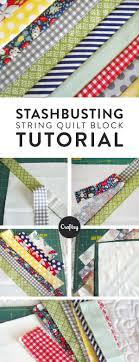 Best 25+ String quilts ideas on Pinterest | Scrap quilt patterns ... & String Quilt Block Tutorial: Put Those Scraps to Good Use Adamdwight.com