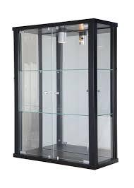 lockable wall mounted double door glass display cabinets