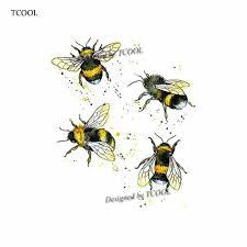 Tcool пчелы временные татуировки стикеры акварель татуировки для для женщин мода Body