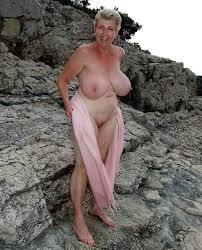 Big tits granny solo