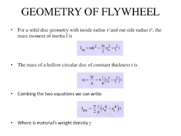 Design Of Flywheel