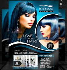 hair salon flyer template photo psd