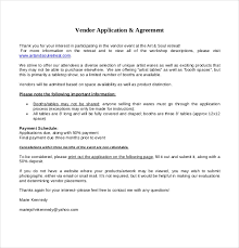 Vendor Application Template 9 Free Word Pdf Documents Download