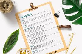 Simple One Page Resume Template Resume Templates Creative Market