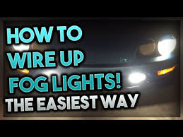 how to wire up fog lights