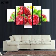 multi panel canvas prints multi panel canvas wall art 5 pieces red strawberry painting on canvas on multi panel canvas wall art uk with multi panel canvas prints whatleylane uk