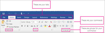 Word Ribbon Customize The Ribbon In Office Office Support