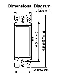leviton decora 15 amp single pole illuminated rocker switch wiring diagram dimensions dimensions