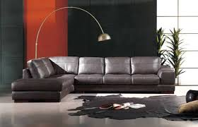 he 260 modern contemporary leather sectional sofa