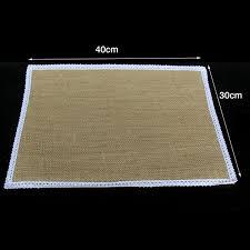 12 x burlap placemat 40cm x 30cm