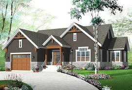 ranch house plan front of home planore craftsmen craftsman with bonus room craftsman style house plans