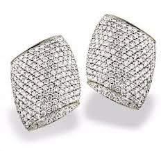 image is loading vhernier plateau collection diamond clip earrings 18 karat