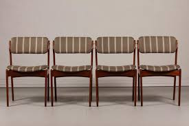 upholstered dining room chairs inspirational mid century od 49 teak dining chairs by erik buch for