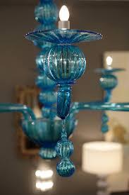 aquamarine murano glass chandelier by barbini for 3